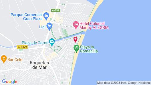 Hotel Don Ángel Roquetas de Mar Map