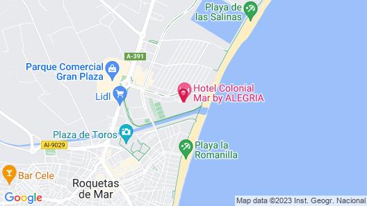Hotel Colonial Mar Map
