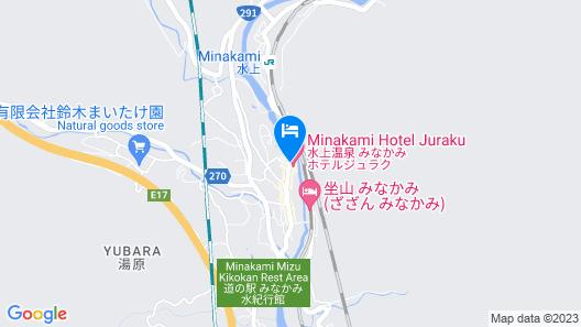 Minakami Hotel Juraku Map