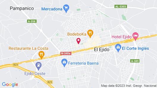 Hostal Centro Ejido Map