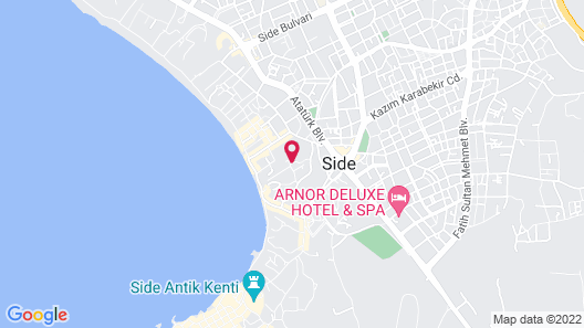 Side Tuana Butik Hotel Map