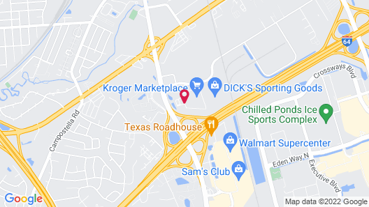 WoodSpring Suites Chesapeake-Norfolk Greenbrier Map