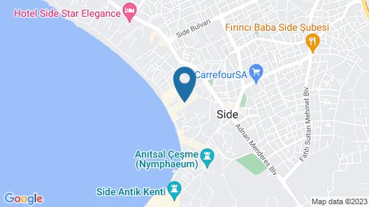 Sun Club Hotel Side - All Inclusive Map