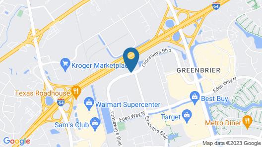 Residence Inn by Marriott Chesapeake Greenbrier Map