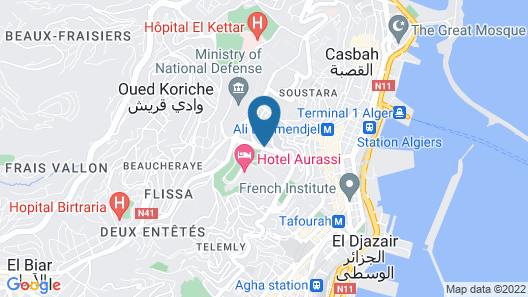 Hotel El Aurassi Map