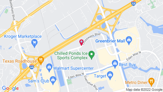 InTown Suites Extended Stay Chesapeake VA – I-64 Map