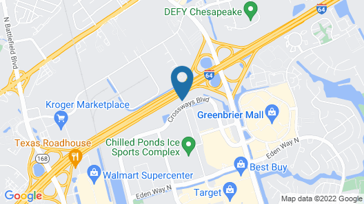 Comfort Suites Chesapeake - Norfolk Map