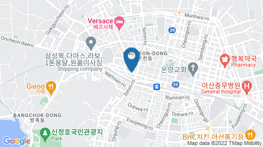 The Cheil Hotel Onyang Map