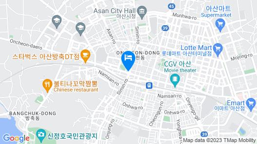 Onyang Hot Spring Hotel Map