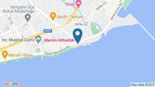 Mersin HiltonSA Map