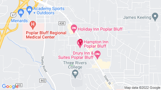 Hampton Inn Poplar Bluff Mo Map
