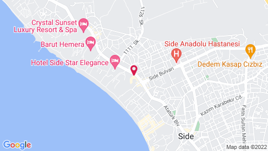 Side Prenses Resort Hotel & Spa - All Inclusive Map