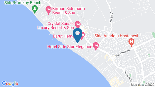 Melas Resort Hotel - All Inclusive Map