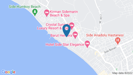 Crystal Sunrise Queen Luxury Resort & Spa - All Inclusive Map