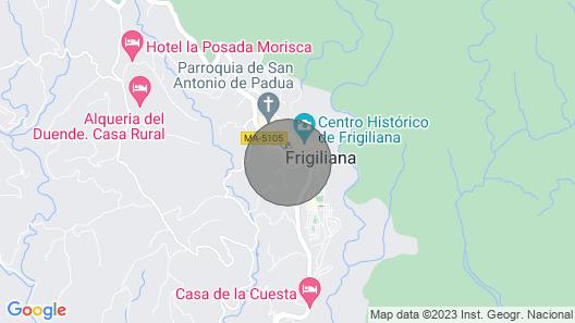 Fuente Santa. Casa de Campo en Frigiliana, con Vistas al mar y a la Montaña Map