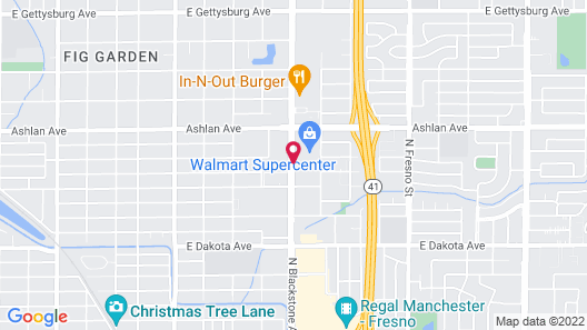 Motel 6 Fresno, CA - Blackstone South Map