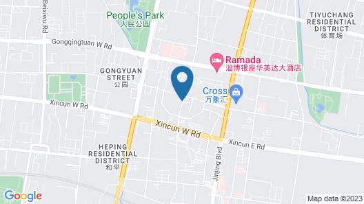 Sheraton Zibo Hotel Map