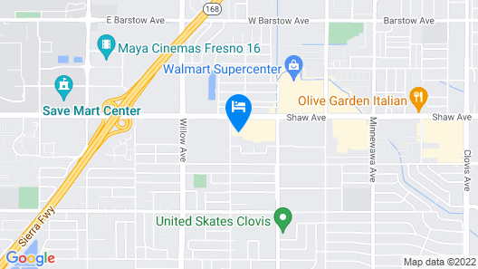 TownePlace Suites by Marriott Fresno Clovis Map