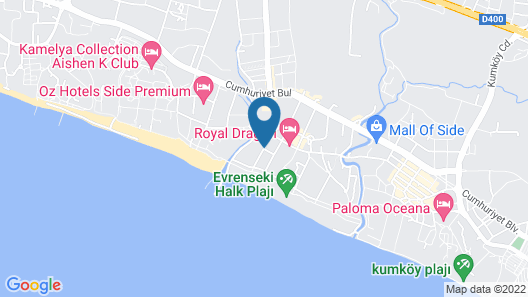 Aydinbey King's Palace & Spa - All Inclusive Map