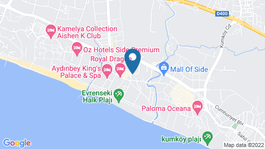 Side Royal Palace Hotel & Spa - All Inclusive Map