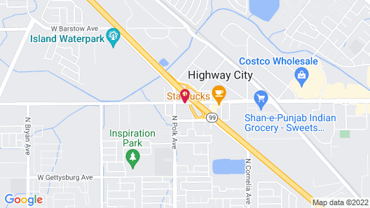 Quality Inn & Suites Fresno Northwest Map
