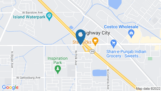 Quality Inn & Suites Fresno Northwest Map
