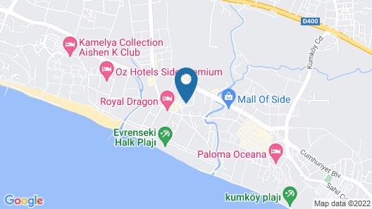 Side Royal Style Hotel Map