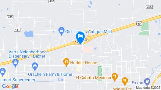 Econo Lodge Dexter Map