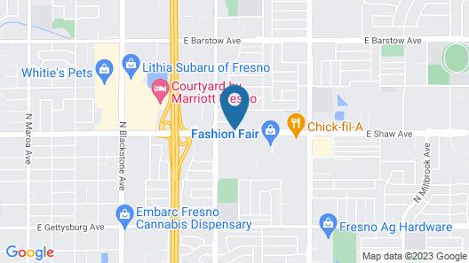 Best Western Plus Fresno Inn Map