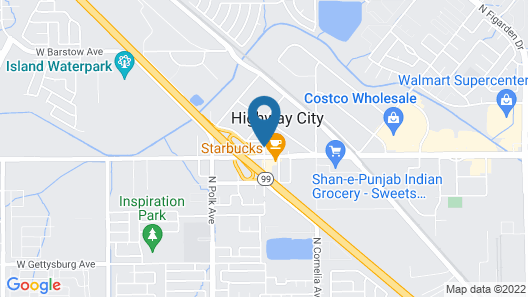 Motel 6 Fresno, CA Map