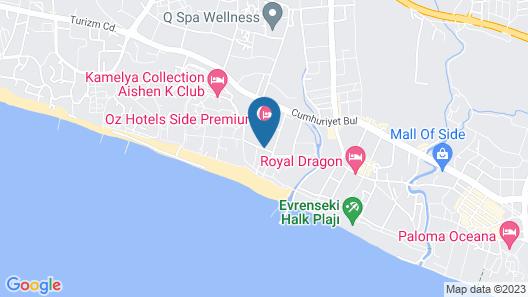 Adalya Ocean Hotel - All Inclusive Map