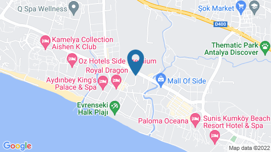 Side Crown Charm Palace - All Inclusive Map