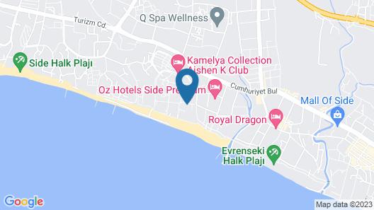 Sentido Kamelya Selin Hotel Map