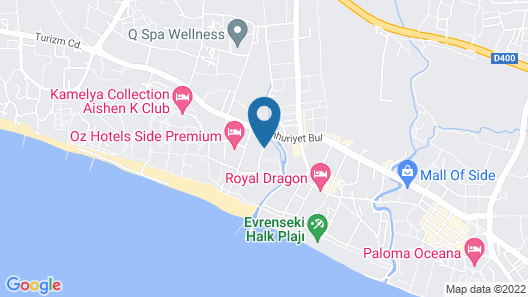 Seher Sun Palace Resort & Spa - All Inclusive Map