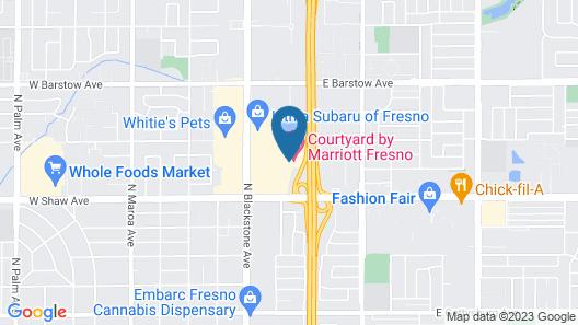 Courtyard by Marriott Fresno Map
