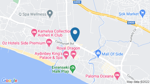 Terrace Beach Resort - All Inclusive Map