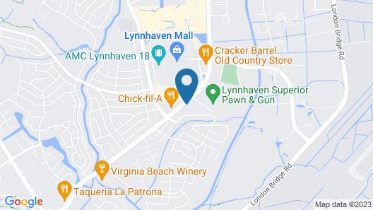 Knights Inn Virginia Beach at Lynnhaven Pkwy Map