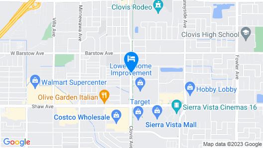 Americas Best Value Inn & Suites Clovis Fresno Map