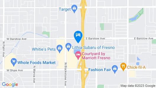 Sonesta ES Suites Fresno Map