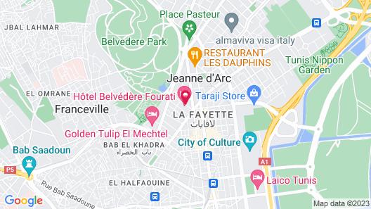 Hôtel Belvédère Fourati Map