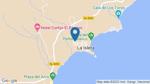 La Isleta, Cabo de Gata. Quiet house 400 m from the beach. Map