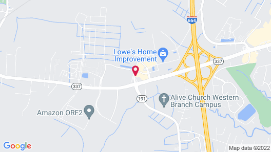 Candlewood Suites Chesapeake, an IHG Hotel Map