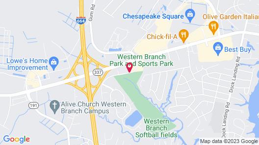 Hampton Inn & Suites Chesapeake-Square Mall Map