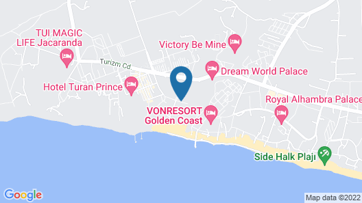 Crystal Palace Luxury Resort & Spa - All Inclusive Map