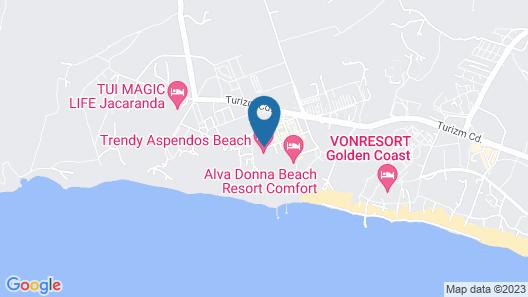 Trendy Aspendos Beach - All Inclusive Map
