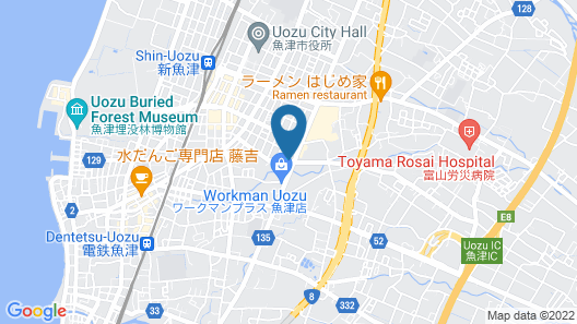 Hotel Route-Inn Uozu Map