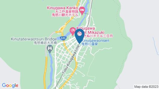 Kinugawa Station Front Map
