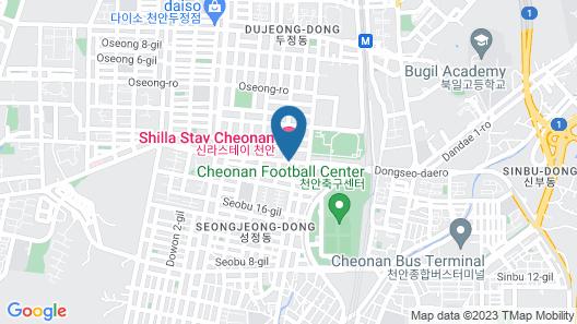 Shilla Stay Cheonan Map