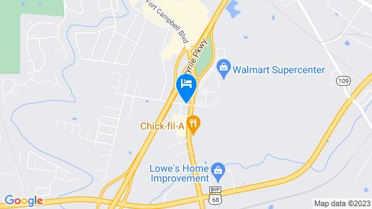 Best Western Hopkinsville Map
