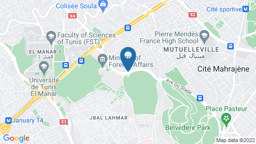 Sheraton Tunis Hotel Map